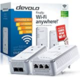 Devolo dLAN 500 AV Wireless+ Powerline Starter Kit, Wi-Fi Everywhere (Wi-Fi Extender Kit, 500 Mbps, 2 Plugs, 3 LAN Ports, Pass Through, Adapter, Ethernet, Wi-Fi Move) - White