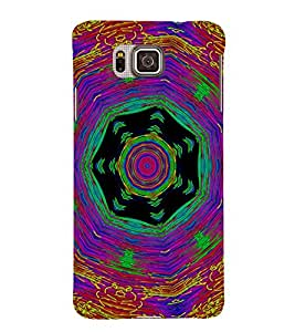 EPICCASE Animated Pattern With lines Mobile Back Case Cover For Samsung Galaxy Alpha (Designer Case)