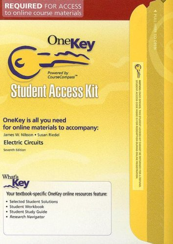 Electric Circuits Student Access Kit (Onekey)