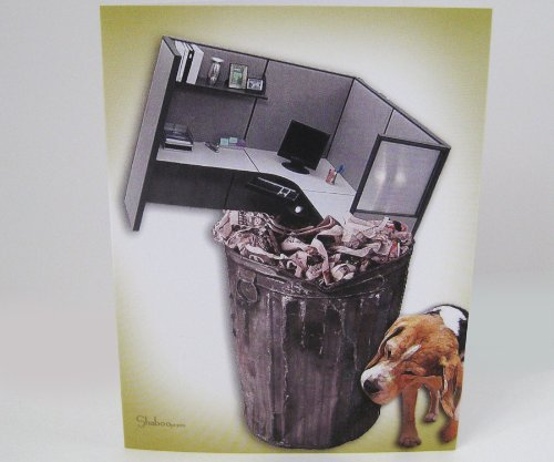 Unique New Beginnings or Retirement Card: Cubicle