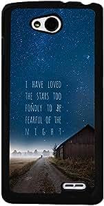 PrintVisa Quotes Stars Case Cover for LG L90