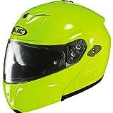 HJC Hi-Viz Men's Sy-Max III Street Racing Motorcycle Helmet - Hi-Visibility Yellow / Medium