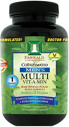 Emerald-Laboratories-Mens-Multi-Vit-A-Min-1-Daily-Complete-Daily-with-CoEnzymes-Extra-Zinc-Lycopene-30-Vegetable-Capsules
