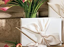 RaeBella Weddings Love Knot Bridal Ivory Guest Book Keepsake