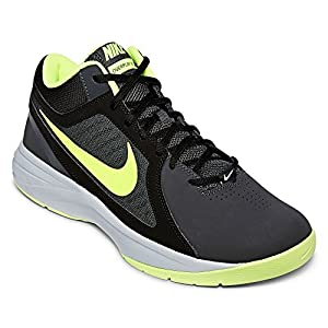 Nike Men's The Overplay VIII NBK Anthracite/Volt/Black/Cl Gry Basketball Shoe 11.5 Men US