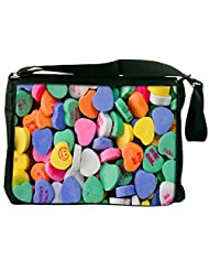Snoogg Daily Candy Computer Padded Compartment Carrying Case Laptop Notebook Shoulder Messenger Bag