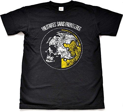 Teamzad-Militaires-Sans-Frontieres-Camiseta-para-hombre-X-Large