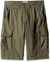 Celio Men's Cotton Shorts (3596654312356_DOLINCAKAKI 29_91_Khaki 29)
