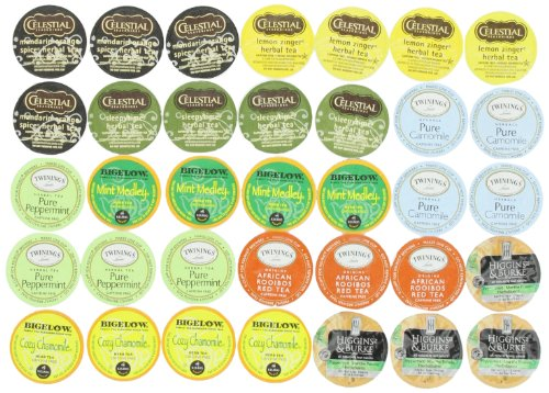 Crazy Cups Herbal Tea Sampler, Single-cup tea