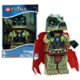 Lego Year 2013 Legends Of Chima Series 8 Inch Tall Figure Alarm Clock Set# 9000577 Cragger With Moving Arms, Legs...