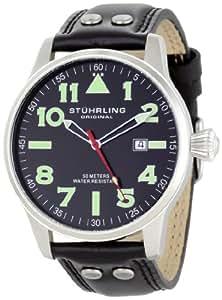 Stuhrling Original Men's 141.33151 Leisure Tuskegee Eagle Swiss Quartz Date Watch