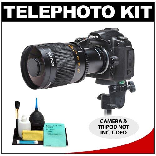 Rokinon 500Mm F/8 Telephoto Mirror Lens With 2X Teleconverter (=1000Mm) For Nikon D Series Digital Slr Cameras