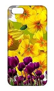 Apple iPhone 5 Floral Print Design Mobile Case Hard Back Cover for girls - Printed Designer Cover - AP5FLRLB123