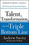 img - for Talent, Transformation, and the Triple Bottom Line: How Companies Can Leverage Human Resources to Achieve Sustainable Growth book / textbook / text book