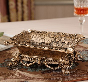 ashtray outdoor stand vintage smokeless tray antique cool unique Ceramics Gold Footed Rectangle 1