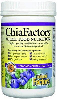 Natural Factors - Chiafactors Organic - 360 Grams