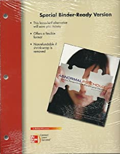 Looseleaf for Abnormal Psychology: Clinical Perspectives on Psychological Disorders