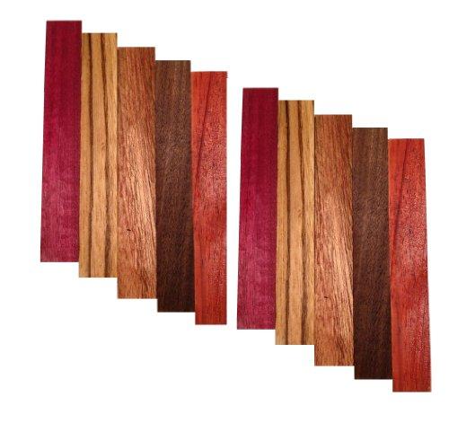 pen-blank-10-pack-purple-heart-zebrawood-sapele-walnut-padauk