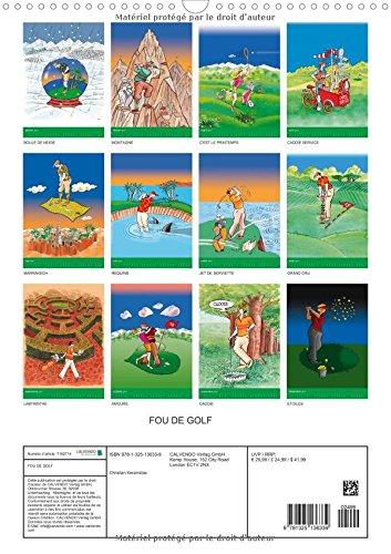 Fou de golf dessins humoristiques sur le golf for Grand calendrier mural 2017