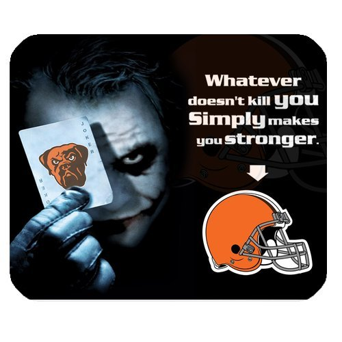 NFL Cleveland Browns With Joker Poker High Quality Printing Rectangle Mouse Pad Design Your Own Computer Mousepad For Christmas Gifts at Amazon.com