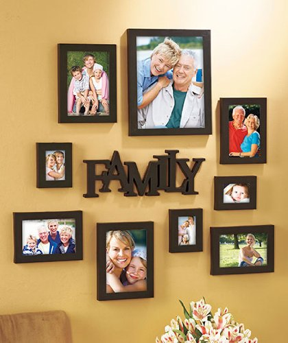 10 Piece Family Picture Photo Hanging Frame Set Home Decor Family Sign