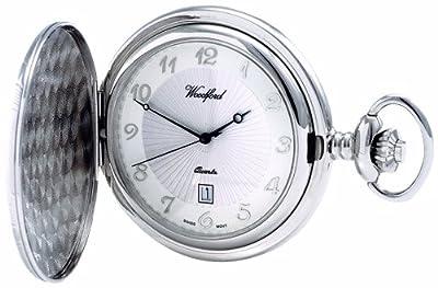 Woodford Pocket Watch 1215 Chrome Plated Quartz Full-Hunter