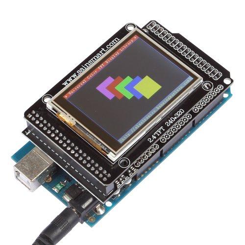 "Sainsmart Tft Lcd Screen Kit For Arduino Due Uno R3 Mega2560 R3 Raspberry Pi (With Mega Shield + Mega2560, 2.4"")"