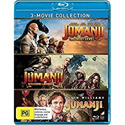 Jumanji: 3-Movie Collection: Jumanji / Jumanji: Welcome to the Jungle /Jumanji: The Next Level [Blu-ray]