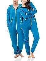 ZIPUPS Mono-Pijama Clean Cut (Turquesa)