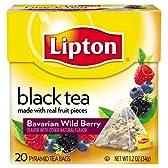 リプトン紅茶、バイエルンワイルドベリー、プレミアムピラミッドティー並行輸入品 アメリカから発送