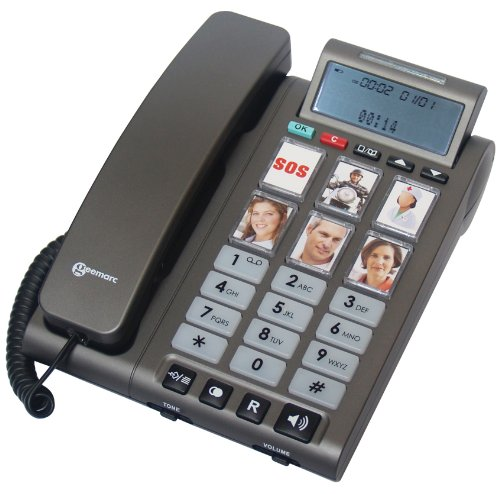 Geemarc PHOTOPHONE 300 Loud Big Button Photo ID Corded Telephone With Caller ID- UK Version picture