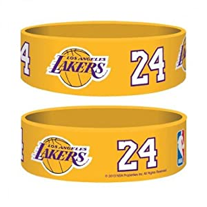 Official NBA LA Lakers Gummy Wristband - One Supplied by Los Angeles LAKERS