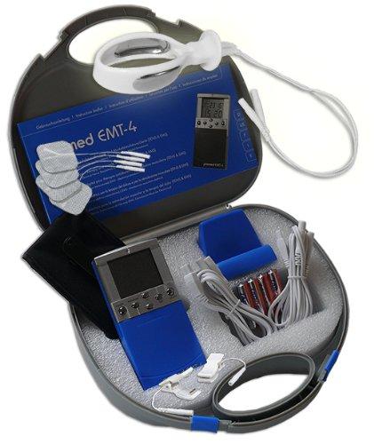EMS / Tens 2-Kanal Reizstromgerät EMT-4 plus Anal- / Vaginalsonde PR-08 + Klemmen. Medizinprodukt für wirksame Schmerz- und Muskelbehandlung