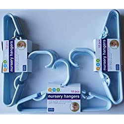 Delta Blue Nursery Hangers 10 Pack - For Baby, Toddler, Kids, Children (Pack of 3)