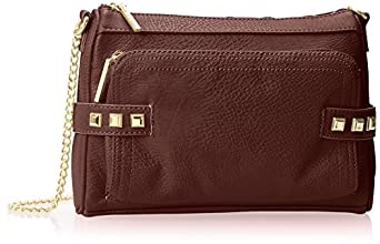 BCBGeneration Quinn The Make A Statement Bag Shoulder Bag,Dark Raspberry,One Size