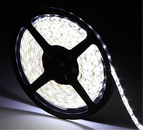 Ustellar Flexible LED Strip Lights, 300 Units SMD 2835 LEDs, 12V LED Light Strip 6000K, Non-waterproof, 5 Meter Lighting Strips, A Power Adapter is Required but Not Included (Daylight White) (Rv Awning Strip compare prices)