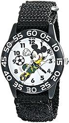 Disney Kids' W001656 Mickey Mouse Analog Display Analog Quartz Black Watch