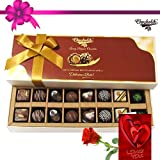 Divine Treat To Your Friend With Rose And Card - Chocholik Belgium Chocolates