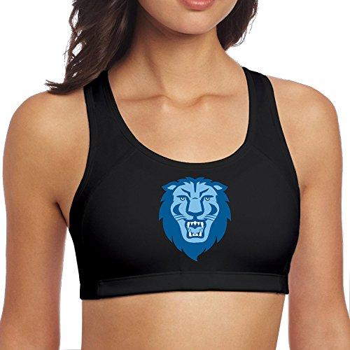 [GBABY3 Women's Columbia University Dance Bra Black Size S] (Animal House College Costumes Tshirt)