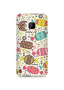 Amez designer printed 3d premium high quality back case cover for HTC One M9 (Chocolate Pattern)