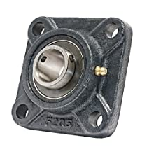 25mm Mounted Bearing UCF205 + Square Flanged Cast Housing
