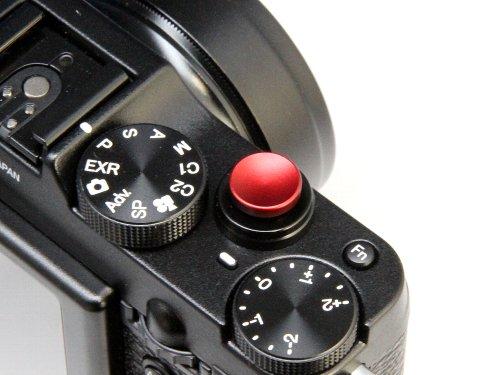 【F-Foto】 ソフトレリーズシャッターボタン 『各社カメラ対応』 (レッド)