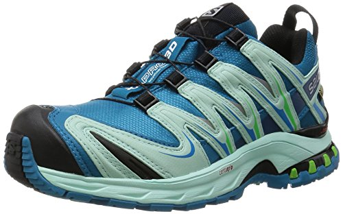 Salomon XA Pro 3D Gtx, Scarpe da Trail Running Donna, Blu (Fog Blue/Igloo Blue/Tonic Green), 38 EU
