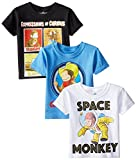 C-Life Group Little Boys' Curious George Value Pack Boys 2T-4T 3 Pack Size 2T