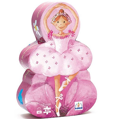 Cheap Fun Djeco The Ballerina with the Flower – 36 Piece Rectangular Jigsaw Puzzle (B000KDQMYU)