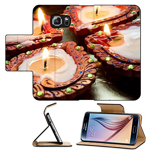 Luxlady Premium Samsung Galaxy S6 Flip Pu Leather Wallet Case IMAGE ID: 33195329 Lit earthenware wax diyas These are handmade and lit to celebrate the hindu festival of Diwali (Wax Lit compare prices)