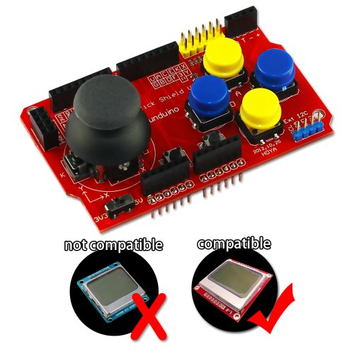 Zitrades Arduina Joystick Shied with NRF24L01, Nokia 5110 LCD,bluetooth module,I2Ccommunication interface