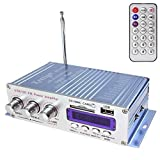SallyBest 12V USB SD DVD FM Car Motorcycle Stereo Radio MP3 Player Auto Car Mini HiFi Digital Power Amplifier...