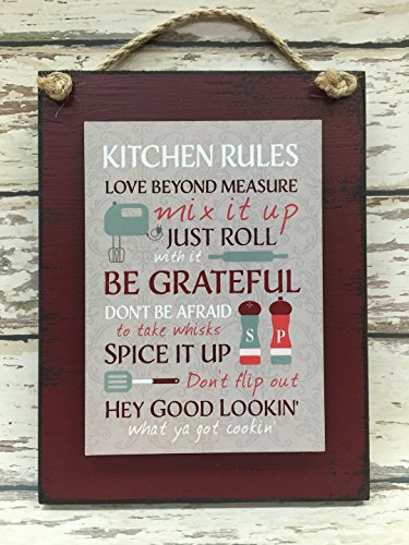 KITCHEN RULES SIGN Reclaimed
