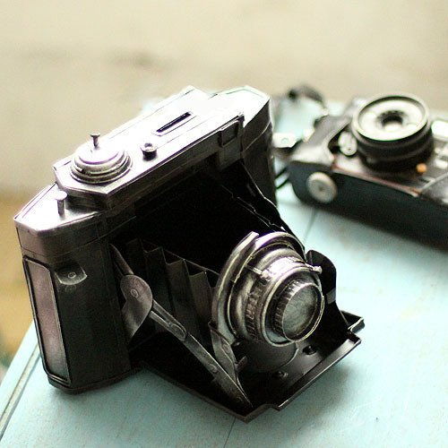 WWJ/ Vintage Tin piggy imitate the camera Olympus wrought iron decorative window decoration 0